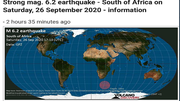 quake cape town - Tremors felt in Cape Town after earthquake off South African coast