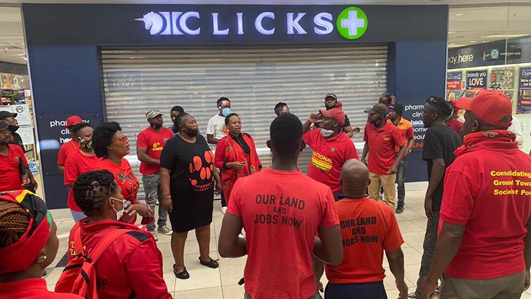 sabc news efff clicks @EFF SA - DA to lay charges against EFF, Malema following Clicks store damages