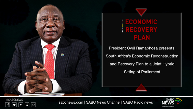 Economic Recovery PlanSite - VIDEO: President Ramaphosa delivers SA's economic recovery plan to Parliament