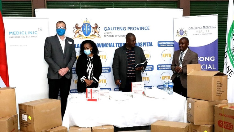 Mamabolo - Gauteng receives PPE donation from Mediclinic