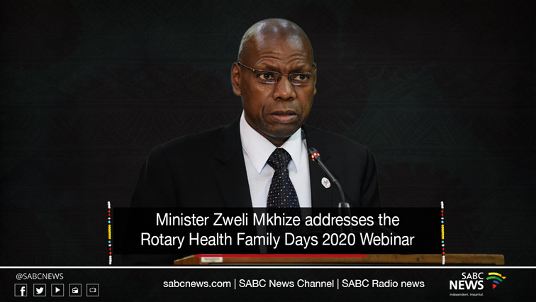 Mkhize LiveSite - LIVE: Minister Mkhize addresses Rotary Health Family Days 2020 webinar