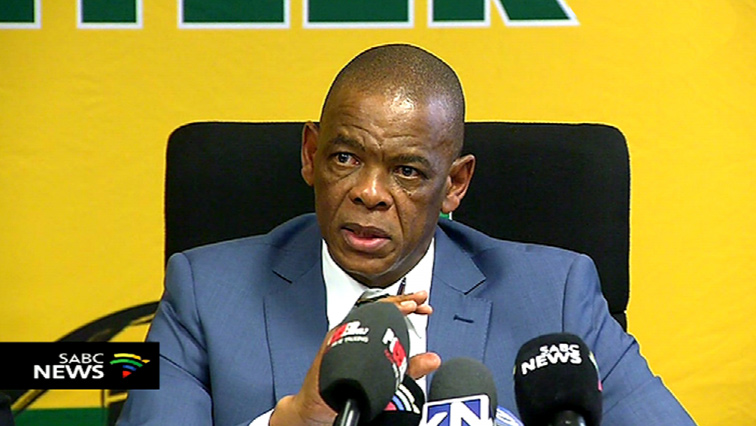 SABC News Ace Magashule - Magashule asks NPA to inform him of possible arrests so he hands himself in
