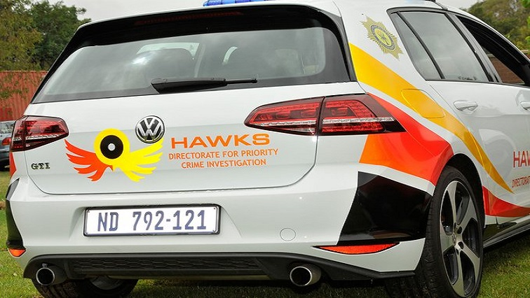 SABC News Hawks 1 Twitter via @SAPoliceService - More arrests expected in Gauteng health tender fraud case