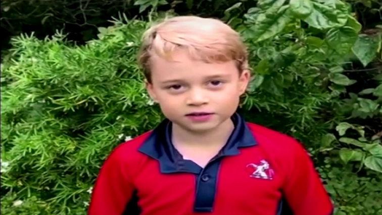 SABC News Prince George R - Prince George and siblings quiz Britain's Attenborough on his favourite animal