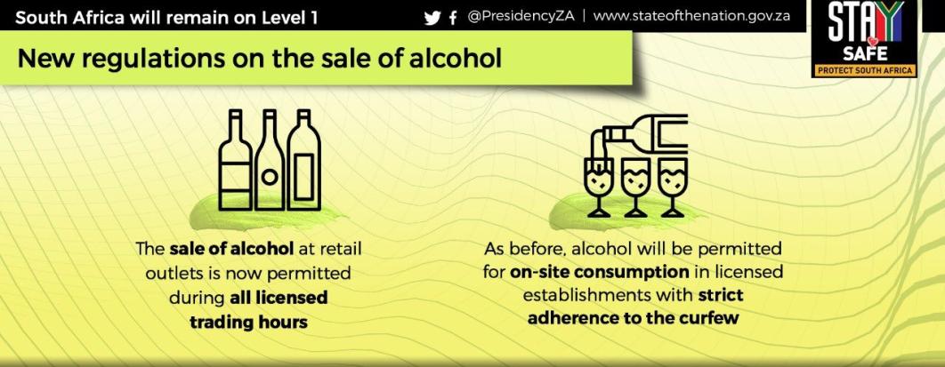 Liquor - IN BRIEF: What's new in SA's COVID-19 response