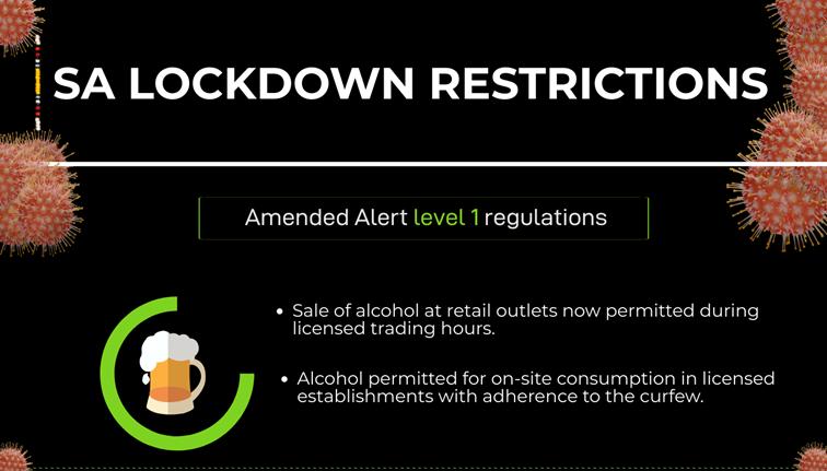 SA Lockdown Level 1 amendments - INFOGRAPHIC: SA lockdown Level 1 amendments