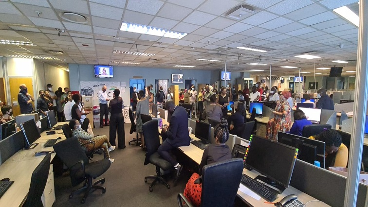 SABC NEWS MEETING P - Tensions run high at SABC Auckland Park newsroom