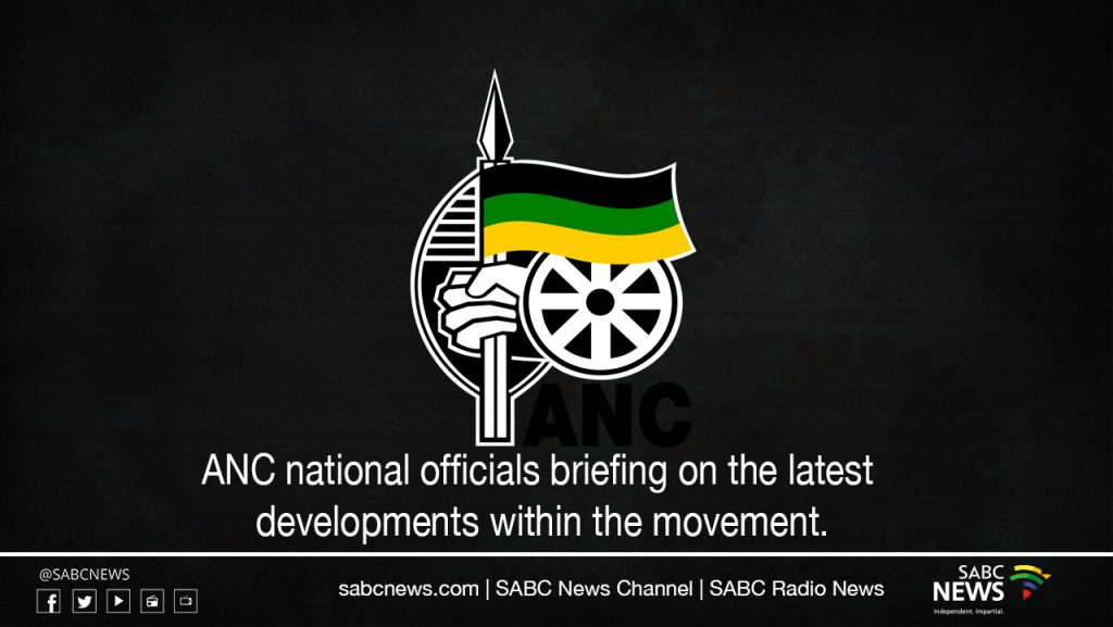 SABC News ANC LIVESTREAM 1024x577 - LIVE: ANC briefing following developments around SG Ace Magashule