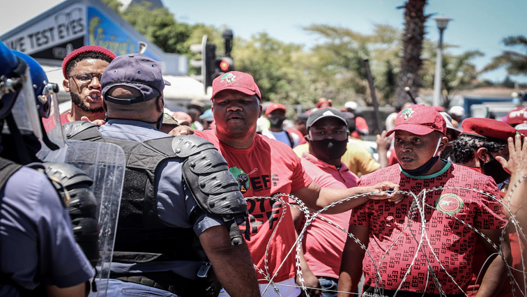 SABC News EFF Police Twitter @EFFSouthAfrica - EFF engages police over solution to Brackenfell school chaos