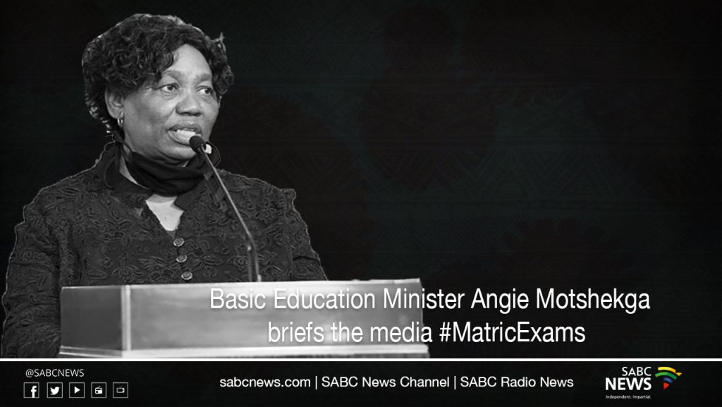 SABC News angie motshek LIVESTREAM 1024x577 - LIVE: Basic Education Minister briefs media on matric exams