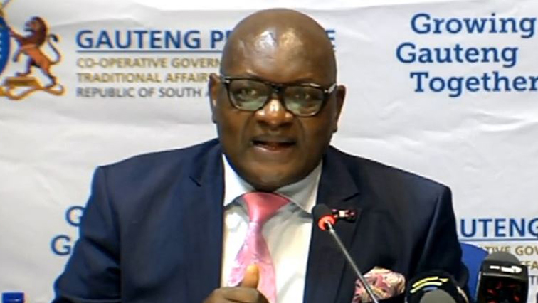 SABC News david makhura - New Health MEC for Gauteng to be appointed in December