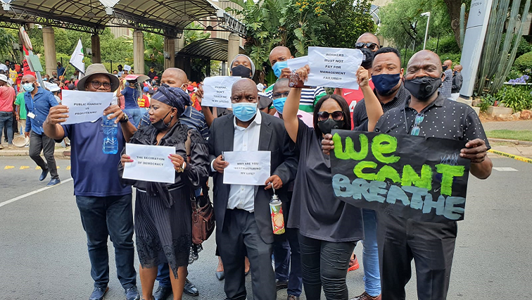 SABC News Staff protests by Nontobeko Magala - GALLERY   SABC staff embark on countrywide lunchtime picket