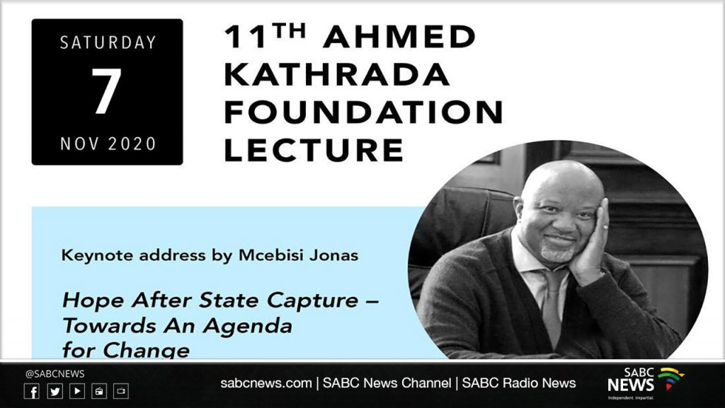 WhatsApp Image 2020 11 07 at 2.37.38 PM 1024x577 - LIVE: 11th Ahmed Kathrada Foundation Lecture