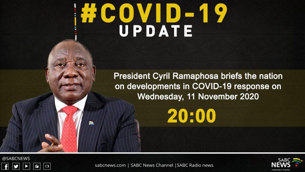 WhatsApp Image 2020 11 11 at 5.30.55 PM 1024x577 - LIVE: President Ramaphosa address at 8pm on developments in COVID-19 response