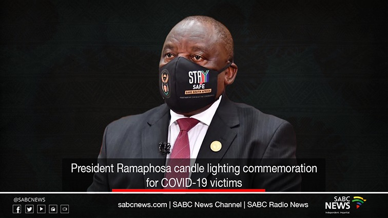 CANDLE - VIDEO: President Ramaphosa lights candles in memory of COVID-19 victims
