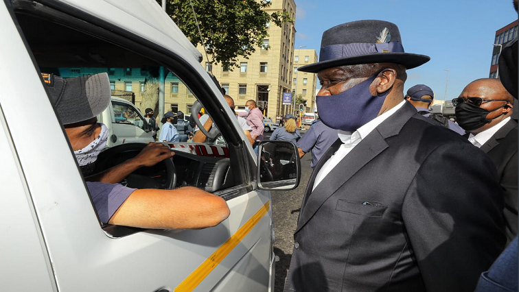 Cele Twitter@SAPS - Cele urges police to enforce the wearing of masks