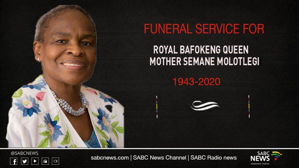 Queen mother Funeral stream 1024x577 - LIVE: Funeral of Royal Bafokeng Queen Mother Semane Molotlegi