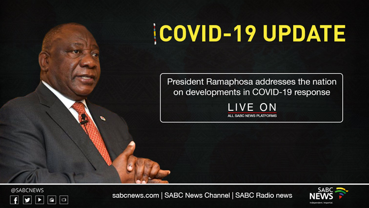 RAMAPHOSA NEWSITE - President Ramaphosa addresses the nation on latest COVID-19 interventions