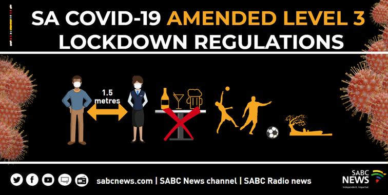 SABC NEWS COVID 19 LEVEL 3 AMENDED REGULATIONS - Listicle: Lockdown Level 3 changes