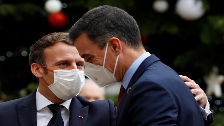 SABC NEWS Pedro Sanchez R 1 - From bows to handshakes, how Macron let social distancing slip
