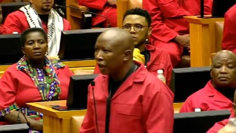 SABC News EFF - Committee declines to pursue charging EFF members for contempt of Parliament