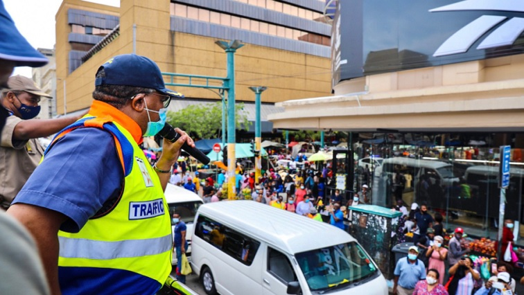 SABC News Mbalula Twitter@MbalulaFikile - Mbalula takes to open-air bus to ramp up support for festive season road safety campaign