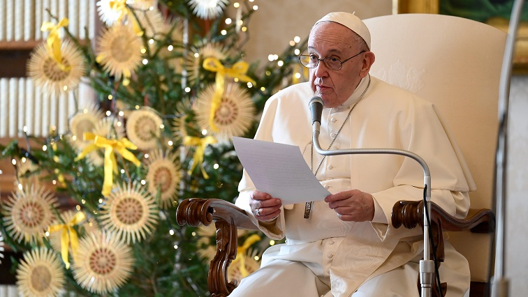 SABC News Pope Francis Reuters - Papal Christmas, New Year moved indoors because of coronavirus