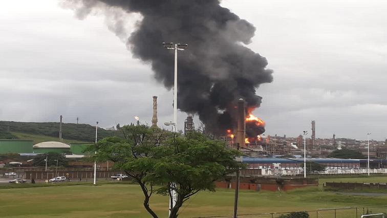SABC News Refinery Explosion Twitter @JJSubroyen - Investigation into Engen Refinery explosion to also look at community safety