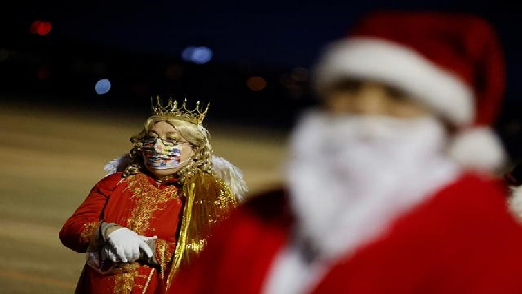 SABC News Santa Reuters - German Santas hope to bring cheer despite masks