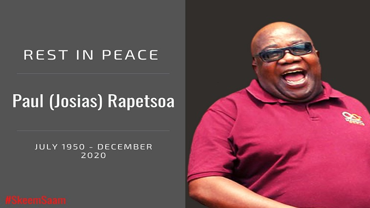 Skeem Saam Mahuma Rapetsoa Twitter via @SkeemSaam3 - Tributes continue to pour in for Skeem Saam actor Paul Rapetsoa