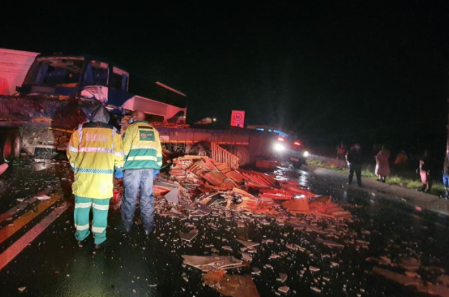 Van Reenen crash - One killed, 42 injured in Van Reenen crash