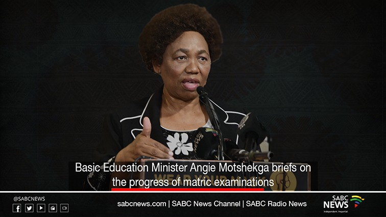 angie - LIVE: Basic Education Minister briefing on matric examinations progress