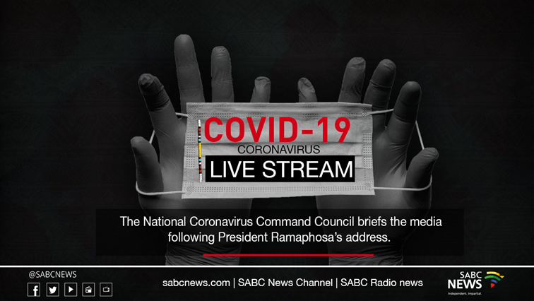 NCCC Briefing site - LIVE   NCCC media briefing on COVID-19 regulations