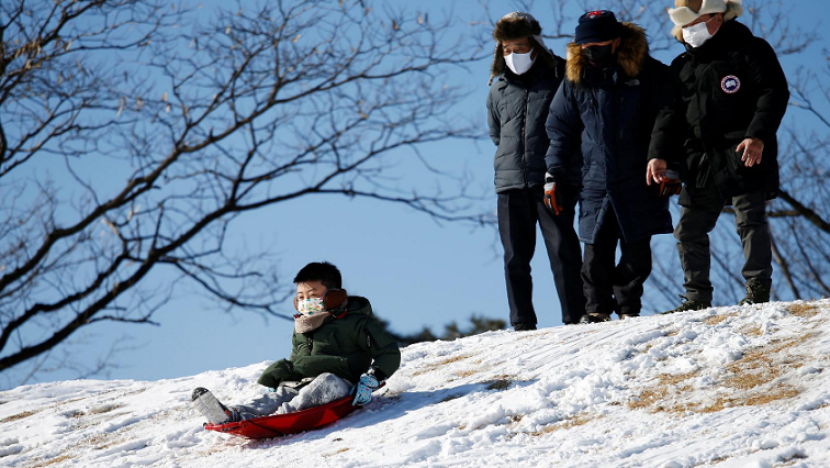 Resort Reuters - Can't go to ski resort? South Koreans rush to buy sledges, enjoy sledding near home