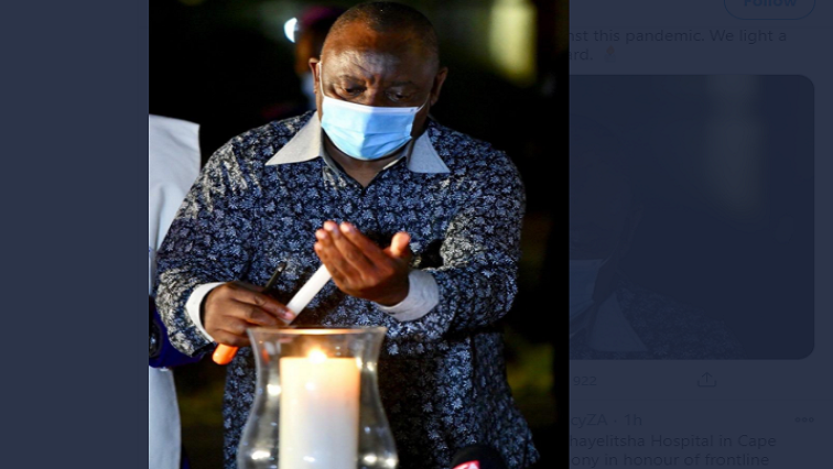 SABC News Candlelight Twitter @CyrilRamaphosa - Candle lighting gives hope that our country needs: Ramaphosa