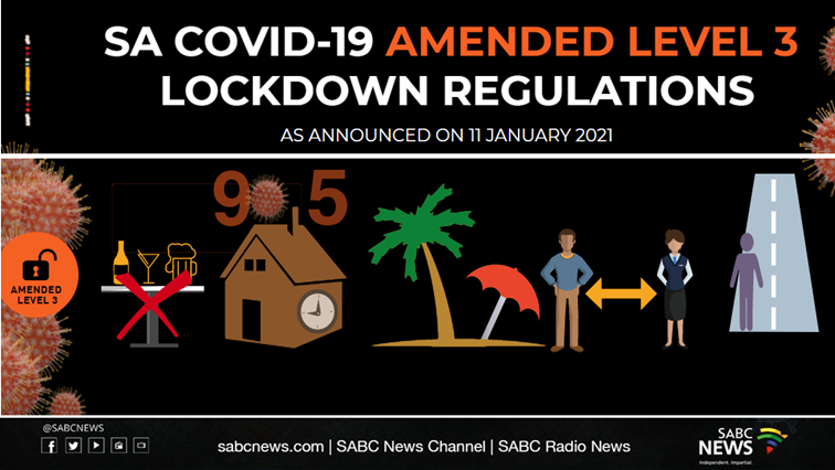 SABC News adjusted level 3 lockdown  11 January 2021 mat - INFOGRAPHIC | SA's latest COVID-19 lockdown Level 3 regulations