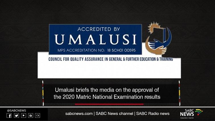 umalusi - VIDEO: Umalusi media briefing on 2020 Matric results approval