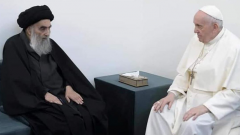 Pope-Francis-meets-with-Iraqs-top-Shiite-cleric