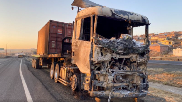 sabc news Burned truck