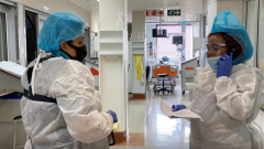 sabc news Medic in a ward